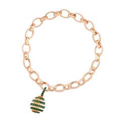 Fabergé Spiral Emerald Charm #Fabergé #emerald