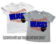 huge discount a13fe 38f77 Baseball shirt   Toddler baseball tee   spirit t shirt   school spirit wear    mascot customized shirts