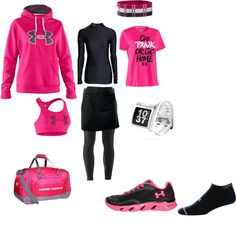 """Running outfit"" by crystalm16 on Polyvore"