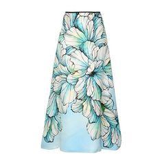 Marina Rinaldi Women Printed Silk Gauze Maxi Skirt (3.320 RON) ❤ liked on Polyvore featuring skirts, multi, sequin skirt, floor length skirt, long gauze skirt, maxi skirt and silk skirt