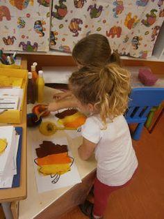 Nuestra siguiente sesión de grafismo ha estado dedicada al otoño y para ello lo primero que hemos hecho ha sido pintar una gran hoja de oto...
