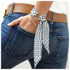 Bernadette Silk Bracelet by Silk Philosophy. Statement accessories suitable for office and everyday Diy Fashion Tshirt, Diy Fashion Shoes, Diy Fashion No Sew, Diy Fashion Accessories, Fashion Outfits, Diy Fashion Videos, Diy Fashion Hacks, Fashion Ideas, Fashion Trends