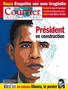 Courrier international n° 950 du 15 janvier 2009. Belle couverture.