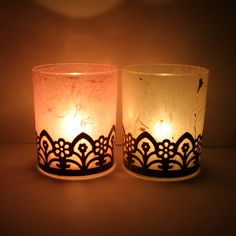 Steampunk-inspired Votive Candle Holders