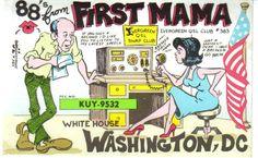 First Mamma QSL card
