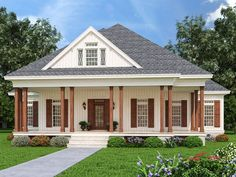 021H-0279: Small Southern House Plan; 1608 sf
