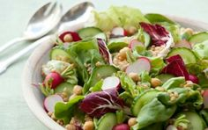 Big Beautiful Salad with Lemon Miso Dressing // How gorgeous does this look? #green #spring #recipe