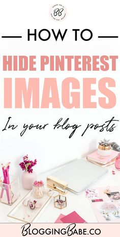 Do you want your readers to save amazing images leading to your blog in their Pinterest boards but don't want these graphics to show in your blog posts? Pinterest is an amazing source of traffic if you create pin-worthy images for your blog posts. Learn how to hide Pinterest images in your blog posts easily!