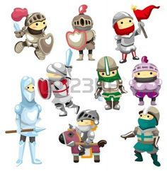 cartoon Knight icon - Buy this stock vector and explore similar vectors at Adobe Stock