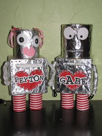 Frogs to Fairy Dust: Robot Valentine Box for School Party