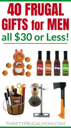 Frugal Gift Ideas for Men- these cheap gifts are perfect for birthdays, Christmas, Valentines, retirement and more! Lots of unique, useful and fun ideas- something for everyone! #thriftyfrugalmom #giftsformen #cheapgifts Best Valentine's Day Gifts, Best Birthday Gifts, Man Birthday, Cheap Gifts For Men, Gifts For Women, Gifts For Father, Fathers Day, Mens Valentines Gifts, Making Ideas