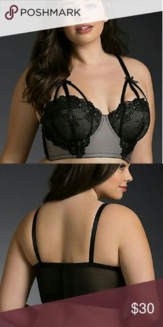 e8c4931ccffa0 Torrid Longline Bralette So beautiful! Too big for me so listing for sale.  NWT