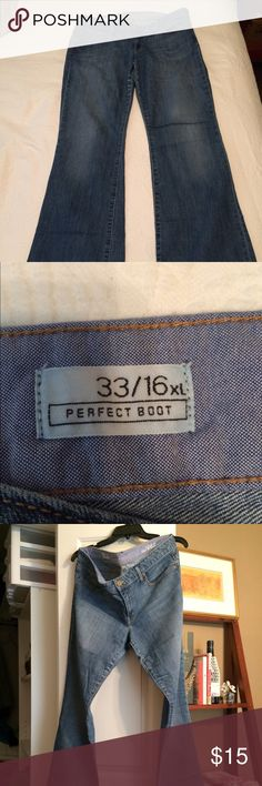 GAP Perfect Boot Jeans Size 16 TALL Great jeans for tall girls! Size 16 Tall. Worn but in great shape. GAP Jeans Boot Cut
