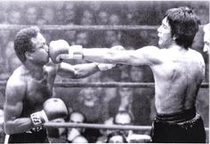 A monster fight from the 70's. Welterweight Champion Jose Napoles challenging Middleweight Champion Carlos Monzon. Napoles was stopped in 6. Boxing Hall of Fame - Google+ boxinghalloffame.com
