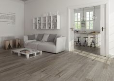 Deliver a magnificent and brilliant appearance to the floors and walls of your home using this GAYAFORES Vancouver White Glazed Porcelain Floor and Wall Tile. Living Room Grey, Living Room Decor, Tile In Living Room, Living Room Flooring, Grey Flooring, White Walls, Wall Tiles, Tile Floor, Sweet Home