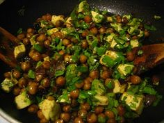 South beach diet phase 1 Chickpeas & Avocado -Modified just  a little. Very good!