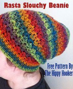 Rasta Slouchy Beanie - Free Crochet Pattern
