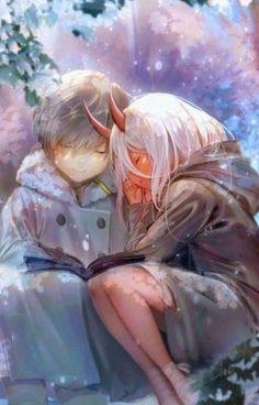 Darling In The Franxx Wallpaper, Darling In The Franxx Zero Two Darling In The Franxx Hiro Darling In The Franxx Funny Manga Anime, Manga Art, Fan Art Anime, Anime Love, Couple Manga, Photo Manga, Image Manga, Zero Two, Best Waifu