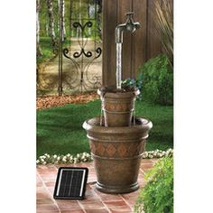 Floating Faucet Solar Water Fountain