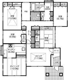 実例集[平屋でゆったり] | まじめな家をつくろう 協和ハウジング Small Floor Plans, House Layouts, House Plans, Flooring, How To Plan, Sims, Interior, Japanese Style, Houses