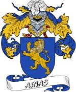 De Arias Spanish Coat Of Arms from the website www.4crests.com #coatofarms #familycrest #familycrests #coatsofarms #heraldry #family #genealogy #familyreunion #names #history #medieval #codeofarms #familyshield #shield #crest #clan #badge #tattoo #crests #reunion #surname #genealogy #spain #spanish #shield #code #coat #of #arms