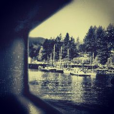 BC Ferries, Vancouver to Bowen Island  iphoneography by NikNaz K.
