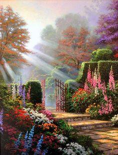 Thomas Kinkade the garden of grace