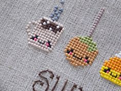 Thanksgiving Cross Stitch PDF Cute Kawaii by PlatoSquirrelPattern