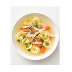 Chicken and Tortellini Soup from Delish.com #protein #vegetables #dairy #myplate