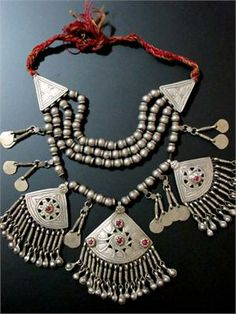 Old Tribal Jewelry Necklace from Kashmir Tribal Necklace, Tribal Jewelry, Bohemian Jewelry, Metal Jewelry, Pendant Jewelry, Beaded Jewelry, Handmade Jewelry, Silver Jewelry, Pendant Necklace