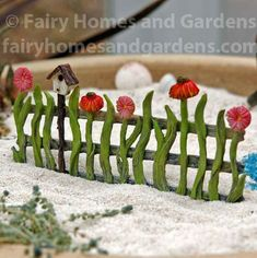 Fairy Homes and Gardens - Flower Fairy Fence, $12.29 (https://www.fairyhomesandgardens.com/flower-fairy-fence/)