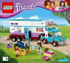 LEGO 41125 Horse Vet Trailer instructions displayed page by page to help you build this amazing LEGO Friends set Walt Disney, Lego Disney, Lego Elves Sets, Lego Friends Sets, Barbie Doll Set, Lego Juniors, Lego Craft, Lego Trains, Lego For Kids