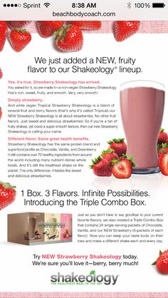 THE NEWEST  ADDITION TO THE SHAKEOLOGY FAMILY! Introducing Strawberry Non-Vegan recipe $0-$140 Order here:  http://www.shakeology.com/rallyfit