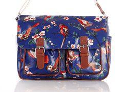 Blue – Stunning Bird Print Satchel – Handbags – Mothers Day Gifts – Ladies Gifts