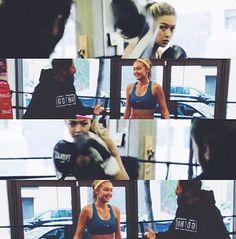 La boxe de Gigi Hadid