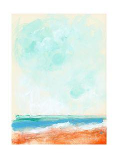 Beach Blaze Wall Art Prints by Lindsay Megahed | Minted