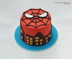 Spiderman Cake - by KiwiMiriam @ CakesDecor.com - cake decorating website