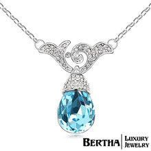 New Coming Fashion Austrian Crystal Necklaces Pendants For Couples Women Classic Wedding Jewelry Joias High Quality Wholesale
