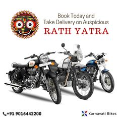 Book Your Favorite Royal Enfield Today and Take Delivery on Best Auspicious Day - #RathYatra! #Ahmedabad