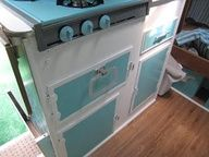 painted stove.