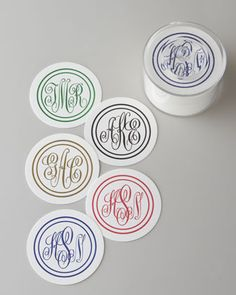 Shop Personalized Coasters & Lidded Holder from The Chatsworth Collection at Horchow, where you'll find new lower shipping on hundreds of home furnishings and gifts. Monogram Coasters, Personalized Coasters, Personalized Stationery, Personalized Gifts, Monogram Wedding, Monogram Initials, Hostess Gifts, Holiday Gifts, Housewarming Gifts