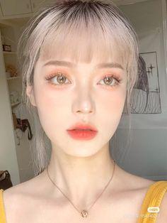 Makeup Korean Style, Asian Makeup Looks, Korean Natural Makeup, Cute Makeup Looks, Korean Eye Makeup, Edgy Makeup, Creative Makeup Looks, Pretty Makeup, Beauty Makeup