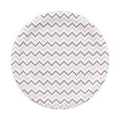 Modern Pink u0026 Grey Chevron Paper Plates 7 Inch Paper Plate  sc 1 st  Pinterest & Glitter Rose Gold Chevron Party Paper Plate | Weddingideas and Wedding