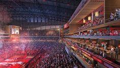 HOK Selected to Design Philips Arena Renovation in Atlanta Nba Arenas, Presentation, Golf Simulators, Program Management, Bears Football, Atlanta Hawks, Church Design, Global Design, Museums