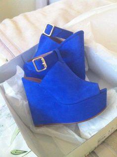 Blue Wedges #shoes, #women, #pinsland, https://apps.facebook.com/yangutu