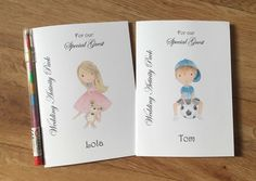 A6 Personalised Childrens Wedding Activity by DesignsbyDaisyandMax