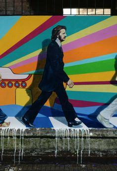 Ringo Starr ~ by Ron Martin Best Street Art, 3d Street Art, Beatles Art, The Beatles, Street Installation, The Fab Four, Abbey Road, Hippie Art, Public Art