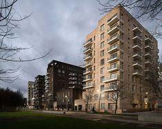 Greenwich Peninsula Riverside housing in London by C.F. Møller Architects
