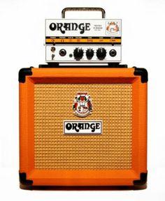 Orange Micro Terror 20 watt Amplifier Head with Cabinet (NEW) Small Guitar, Cool Guitar, Guitar Cabinet, Instruments, Small Speakers, Orange Amps, Orange Orange, Guitar Store, Bass Amps