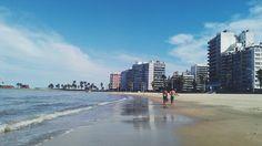 Playa Pocitos, Montevideo, Uruguay.